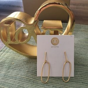 NWT⭐️⭐️Gorjana gold trendy geo earrings